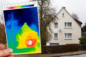 Thermography on house